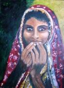tableau personnages jeune fille afghane : jeune afghane