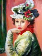 tableau personnages : RENOIR jeune fille au chapeau cerises