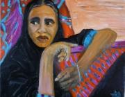 tableau personnages : femme au voile noir