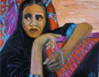 femme au voile noir