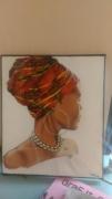 tableau personnages portrait martinique femme : Martiniquaise