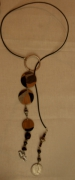 bois marqueterie bijoux marqueterie : Sautoir Queen Elisabeth
