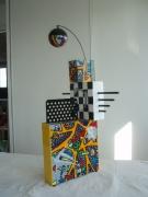sculpture abstrait joueur sculpture metal relief : Le joueur d'orgue de Barbarie