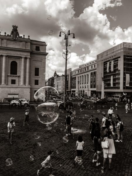 PHOTO Rome Monochrome Italie Personnages  - Rome
