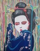 tableau personnages couleur japon femme : JAPONNAISE ET COULEURS
