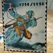 tableau personnages soldat guerre personnage : le poilu