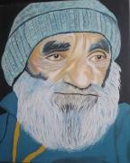 tableau personnages pecheur homme vieux : Le vieux Pécheur