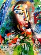 tableau personnages afrique portrait expressionnisme romantisme : Portrait
