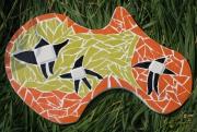 deco design abstrait orange etoile couleur artisanat d art : Trois étoiles