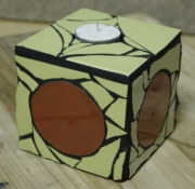 artisanat dart abstrait mosaique bougeoir ambience decoration : Bougeoir vert
