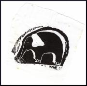 tableau animaux gravure sur bois elephant animaux jungle : éléphanto