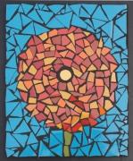 artisanat dart fleurs dahlia mosaique decoration fleur st valentin : Dahlia