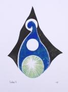 tableau autres linogravure lutin colore gravure : sans nom 2