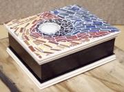 artisanat dart abstrait boite decoration mosaique artisanat : Boite à bijoux 1