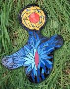 deco design personnages artisanat d art coeur fleur soleil : Clown