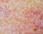 tableau abstrait abstrait geometrique illusion : Vazely