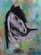 tableau animaux cheval poney animal animaux : Little Grey