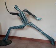 sculpture personnages recyclage soudure ,a l arc gladiateur : le gladiateur