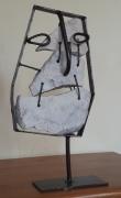 sculpture personnages pierre fer oubli : L'oubli