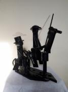sculpture personnages personnage acier espagne cheval : Don Quichotte
