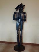 sculpture personnages cheval homme acier personnage : L homme cheval