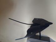 sculpture animaux poisson mer acier bleu : Ocean
