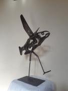 sculpture poisson animaux acier mer : Poisson volant