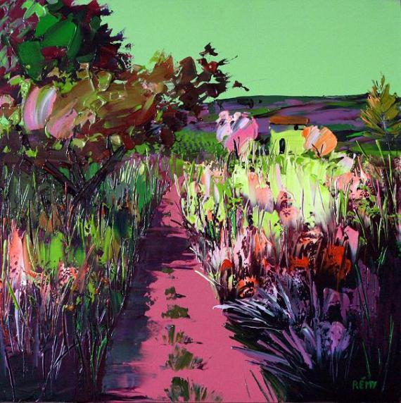 TABLEAU PEINTURE Paysages Peinture a l'huile  - environs de Correns