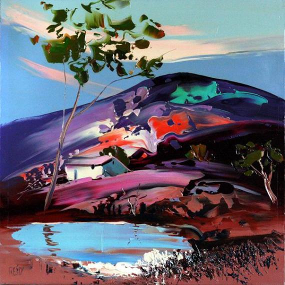 TABLEAU PEINTURE Paysages Peinture a l'huile  - oasis