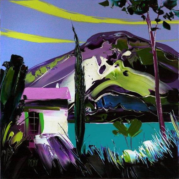 TABLEAU PEINTURE Paysages Peinture a l'huile  - lac du verdon