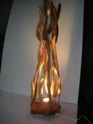 artisanat dart autres lampe flamme feux bois : lampe
