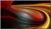 art numerique abstrait liquide volcanique numerique abstrait rouge jaune et noir : Virage du volcan