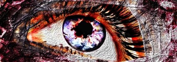 ART NUMéRIQUE oeil fantastique femme du désert blanc rouge bleu surréaliste Personnages  - Vue du Désert