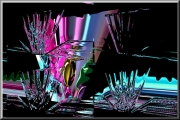 art numerique abstrait verre transparent numerique abstrait forme geometrique surrealiste : Drink a glass