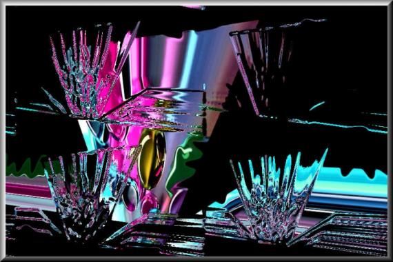 ART NUMéRIQUE verre transparent numérique abstrait forme géométrique surréaliste Abstrait  - Drink a glass