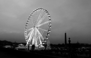 photo villes la grande roue paris concorde nuit : La grande roue