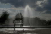 photo villes tuileries chaise jets d eau : solitude