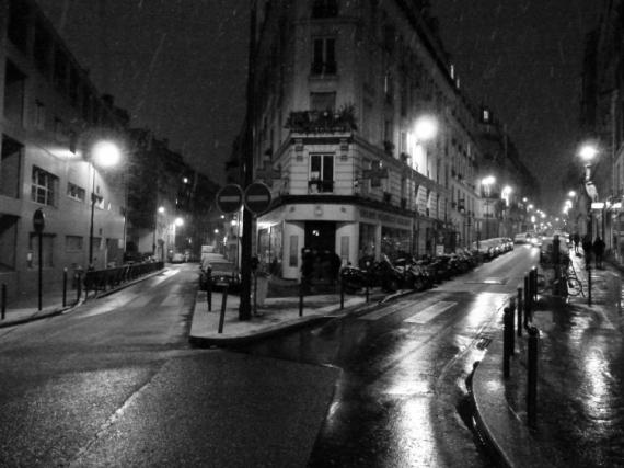 PHOTO montmartre neige hiver paris Villes  - Montmartre en hiver