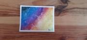 dessin paysages galaxie etoile multicolore aquarelle : Galaxie colorée