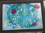 ceramique verre marine morbihan peaule coraux carreaux : coraux sur carreaux