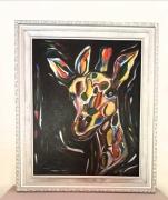 tableau animaux giraffe enfant contemporain couleur : GIRAFFE