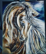 tableau animaux cheval equitation tete : Cheval