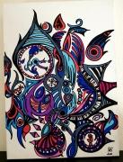 tableau abstrait horloge abstraite date abstraite : Horloge symbolique
