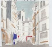 tableau villes paris paris ville rues : rue de Paris