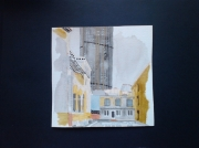 tableau architecture aquarelle paris ville paris : La tour Montparnasse