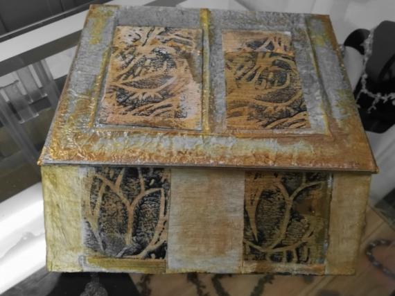 ARTISANAT D'ART oiseaux gravure boîtier bijoux Animaux  - Le Pompéi