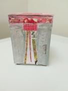 artisanat dart autres boite bijoux bague utilitaire : Rose bonbon