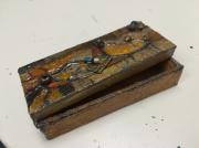 artisanat dart abstrait rectangle boitier collage bijpux : Le Vitré