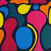 tableau abstrait fonds marins couleur formes : Fonds Marins