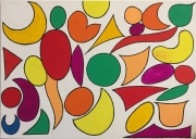 tableau abstrait fruits couleur huile : Fruits